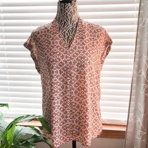 Pleione Blouse Peach Pink with sweet design